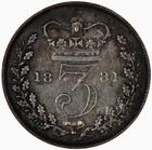 United Kingdom / Threepence 1881 (Circulating) - reverse photo