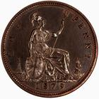 Penny 1879: Photo Proof Coin - Penny, Queen Victoria, Great Britain, 1879