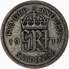 United Kingdom / Sixpence 1937 - reverse photo