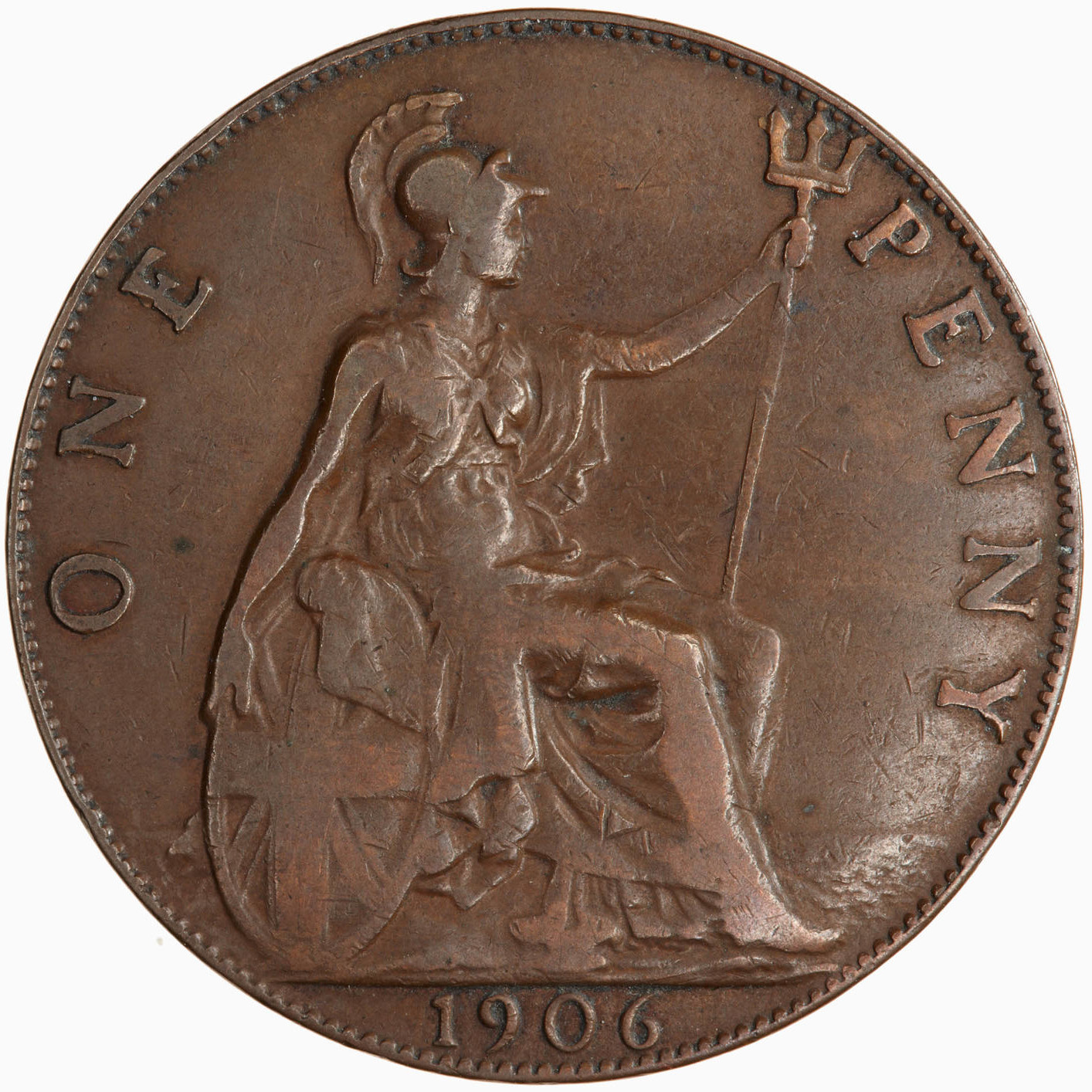 Penny 1906: Photo Coin - Penny, Edward VII, Great Britain, 1906