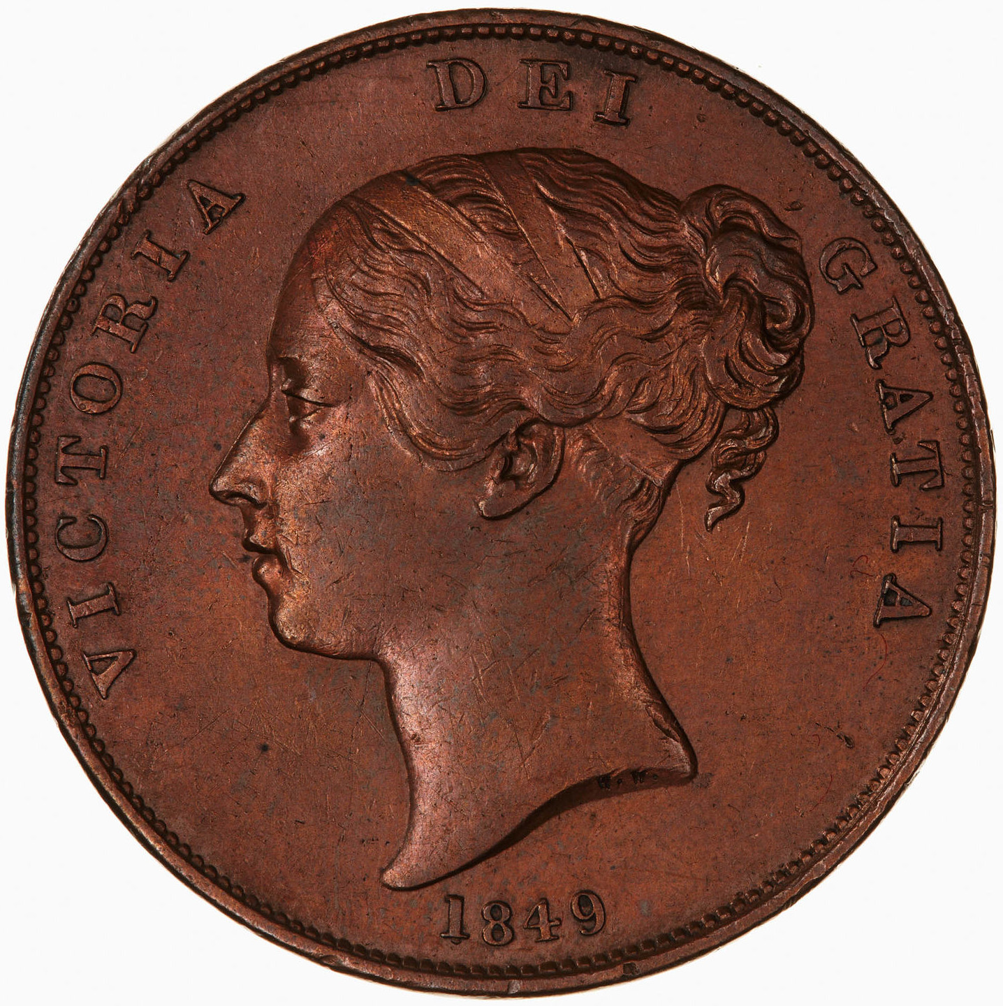 Penny (Pre-decimal): Photo Coin - Penny, Queen Victoria, Great Britain, 1849