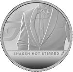 United Kingdom / Silver Two Ounces 2020 James Bond, Shaken not Stirred - reverse photo