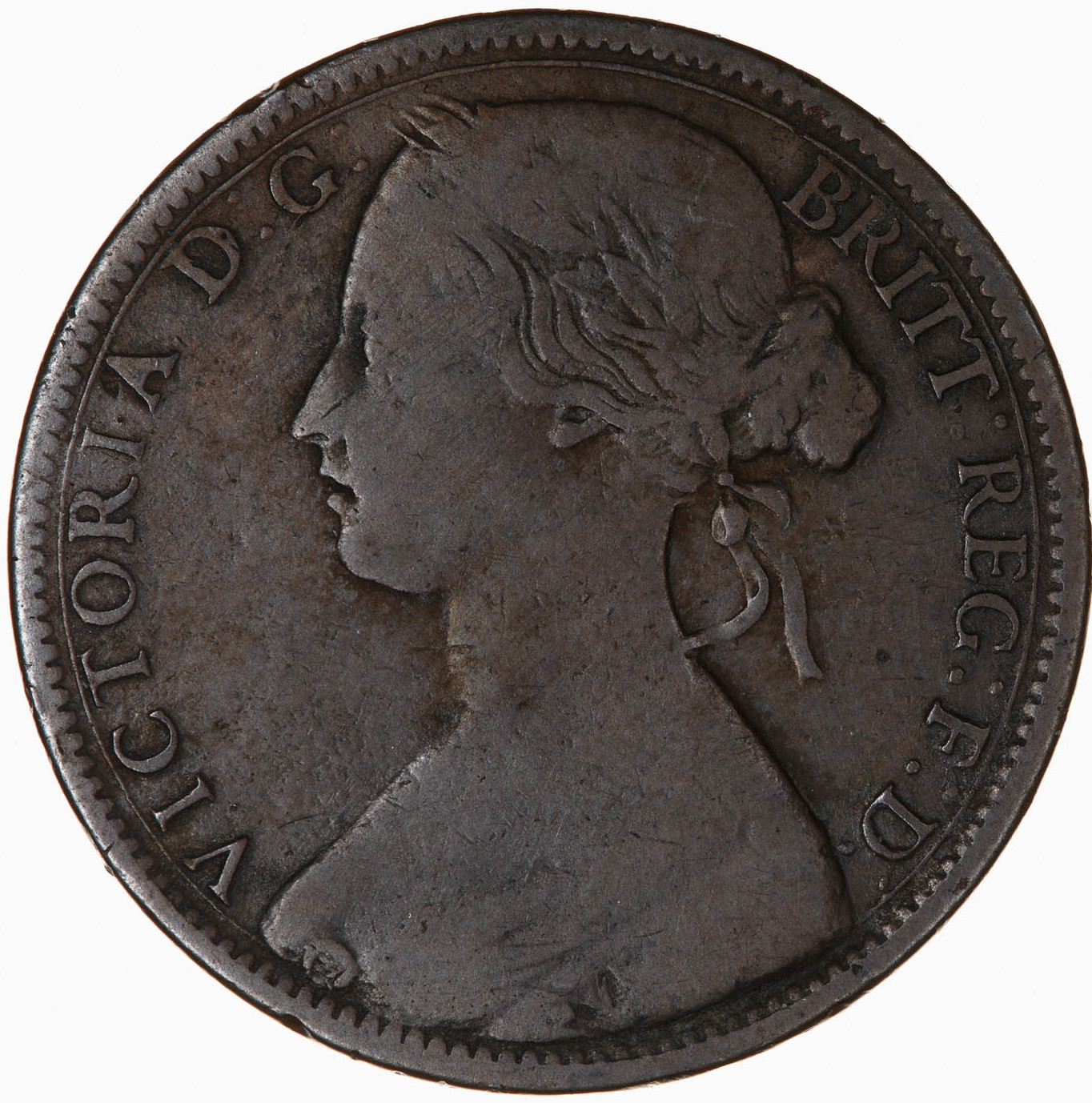 Penny 1864: Photo Coin - Penny, Queen Victoria, Great Britain, 1864