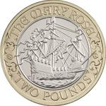 United Kingdom / Two Pounds 2011 Mary Rose - reverse photo