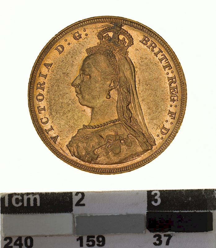 Sovereign 1887 St George, Jubilee head: Photo Coin - Sovereign, Victoria, Australia, 1887