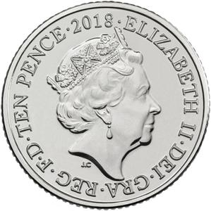 United Kingdom / Ten Pence 2018 W - World Wide Web - obverse photo