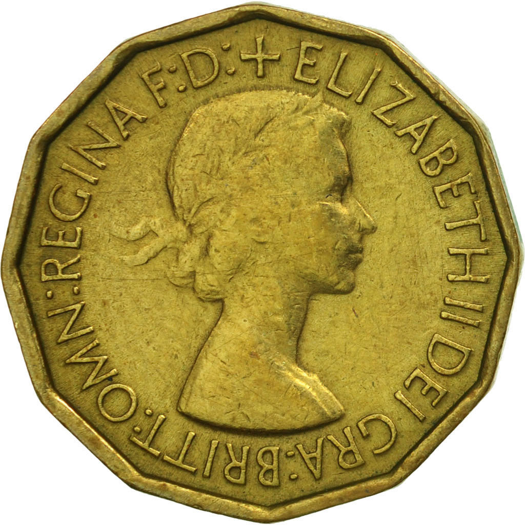 Threepence 1953 (Brass): Photo Great Britain, Elizabeth II, 3 Pence, 1953