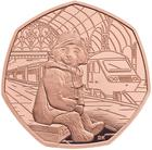 United Kingdom / Fifty Pence 2018 Paddington Bear at the Station / Gold Proof FDC - reverse photo