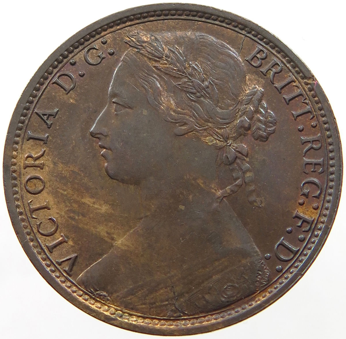 Penny 1878: Photo Great Britain Penny 1878