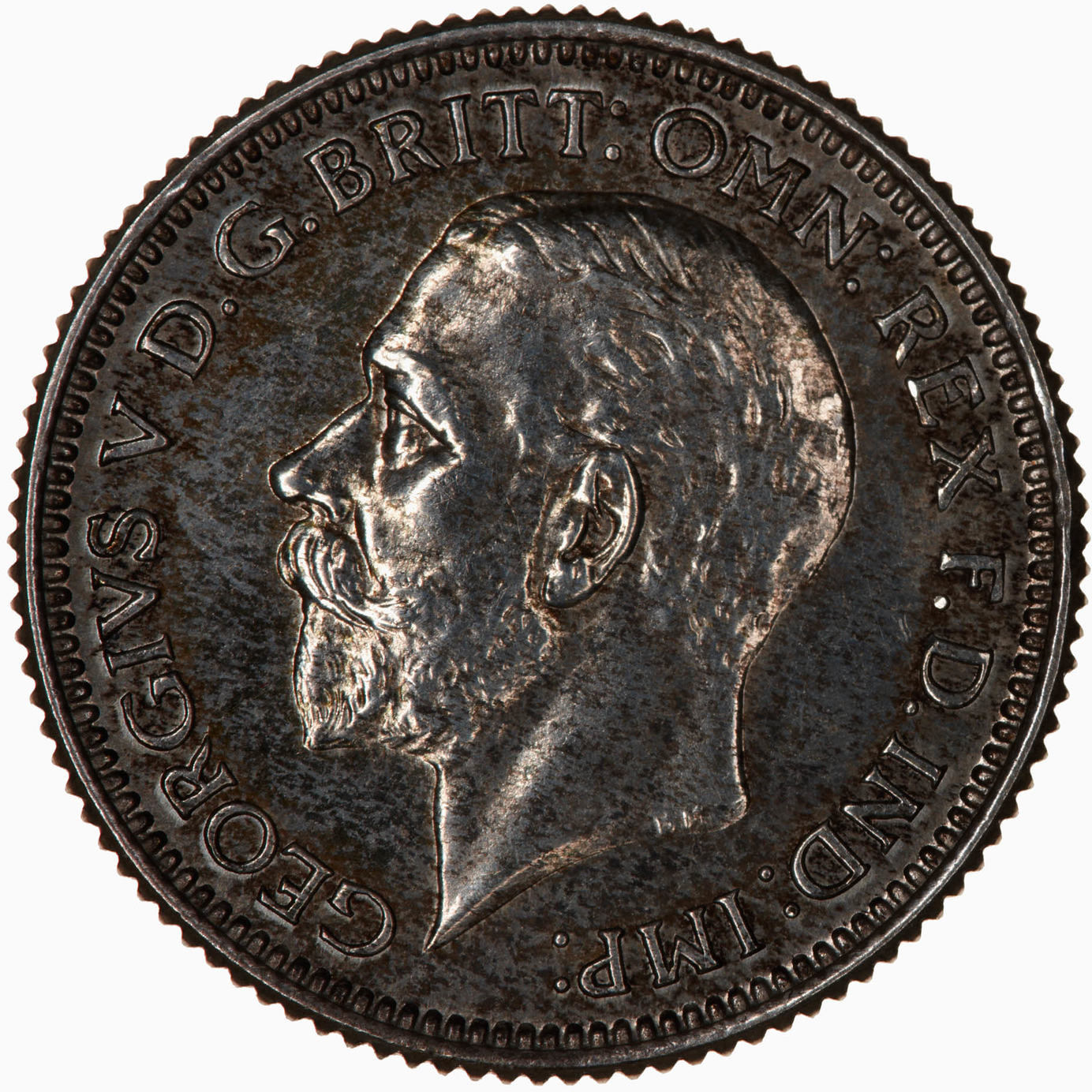 Sixpence 1928: Photo Proof Coin - Sixpence, George V, Great Britain, 1928