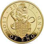 United Kingdom / Gold Five Ounces 2017 Lion of England - reverse photo