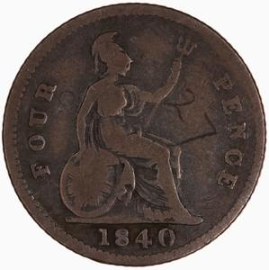United Kingdom / Fourpence 1840 - reverse photo
