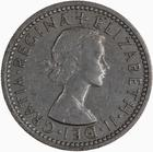 Sixpence 1962: Photo Coin - Sixpence, Elizabeth II, Great Britain, 1962