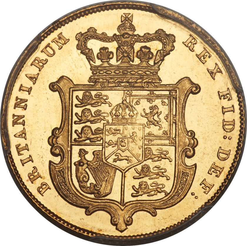 Sovereign 1830 George IV: Photo Great Britain 1830 sovereign