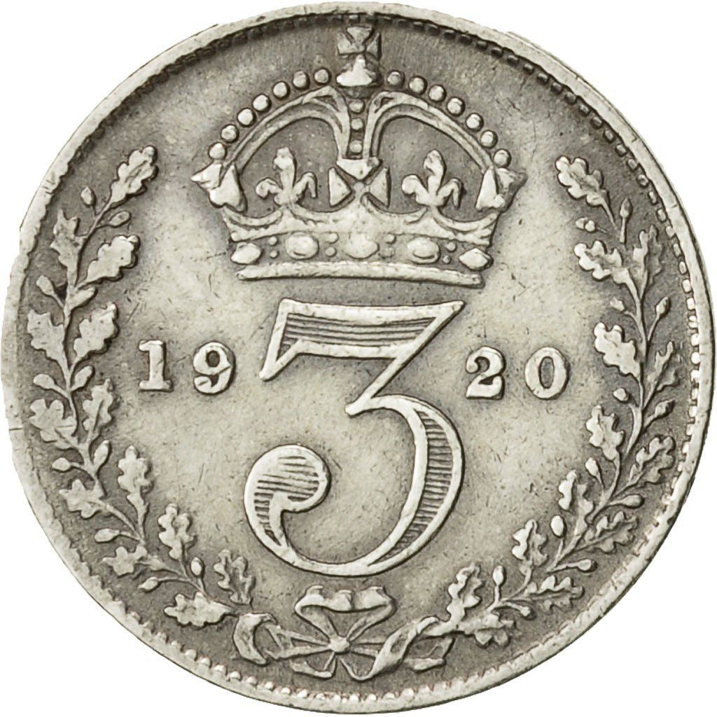 Threepence 1920 (Circulating): Photo Coin, Great Britain, George V, 3 Pence, 1920