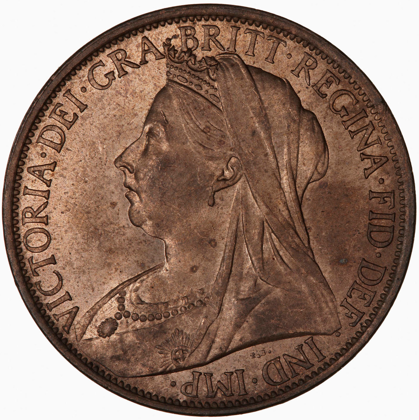 Penny 1897: Photo Coin - Penny, Queen Victoria, Great Britain, 1897