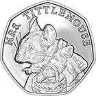 United Kingdom / Fifty Pence 2018 Mrs. Tittlemouse / Brilliant Uncirculated in card - reverse photo