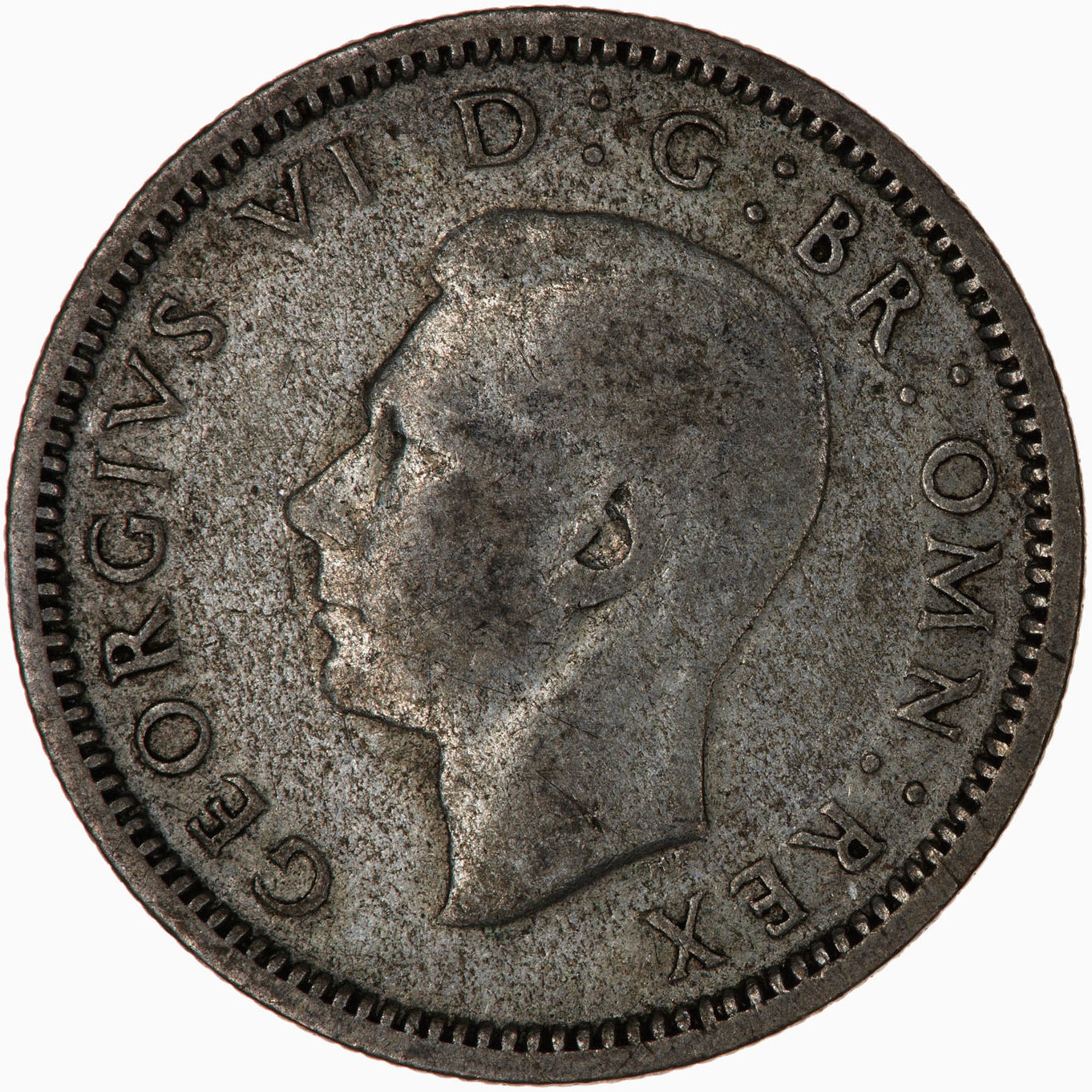 Sixpence 1937: Photo Coin - Sixpence, George VI, Great Britain, 1937