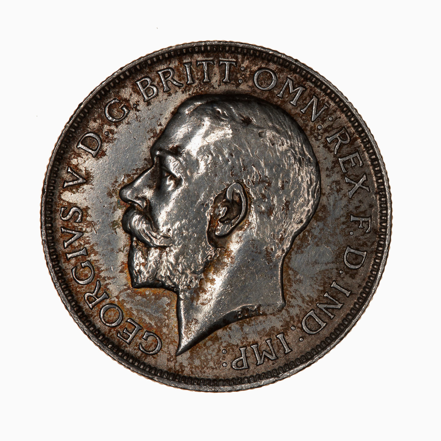 Florin 1911: Photo Coin - Florin (2 Shillings), George V, Great Britain, 1911