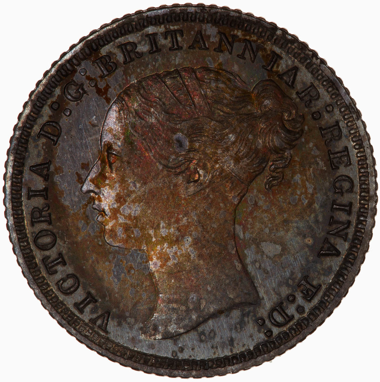 Fourpence 1857 (Proof only): Photo Proof Coin - Groat, Queen Victoria, Great Britain, 1857