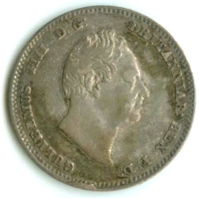 Threepence 1835 (Maundy): Photo Great Britain 1835 3 pence
