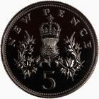 United Kingdom / Five Pence 1973 (Proof only) - reverse photo