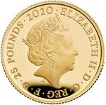 United Kingdom / Gold Quarter Ounce 2020 James Bond, Pay Attention - obverse photo