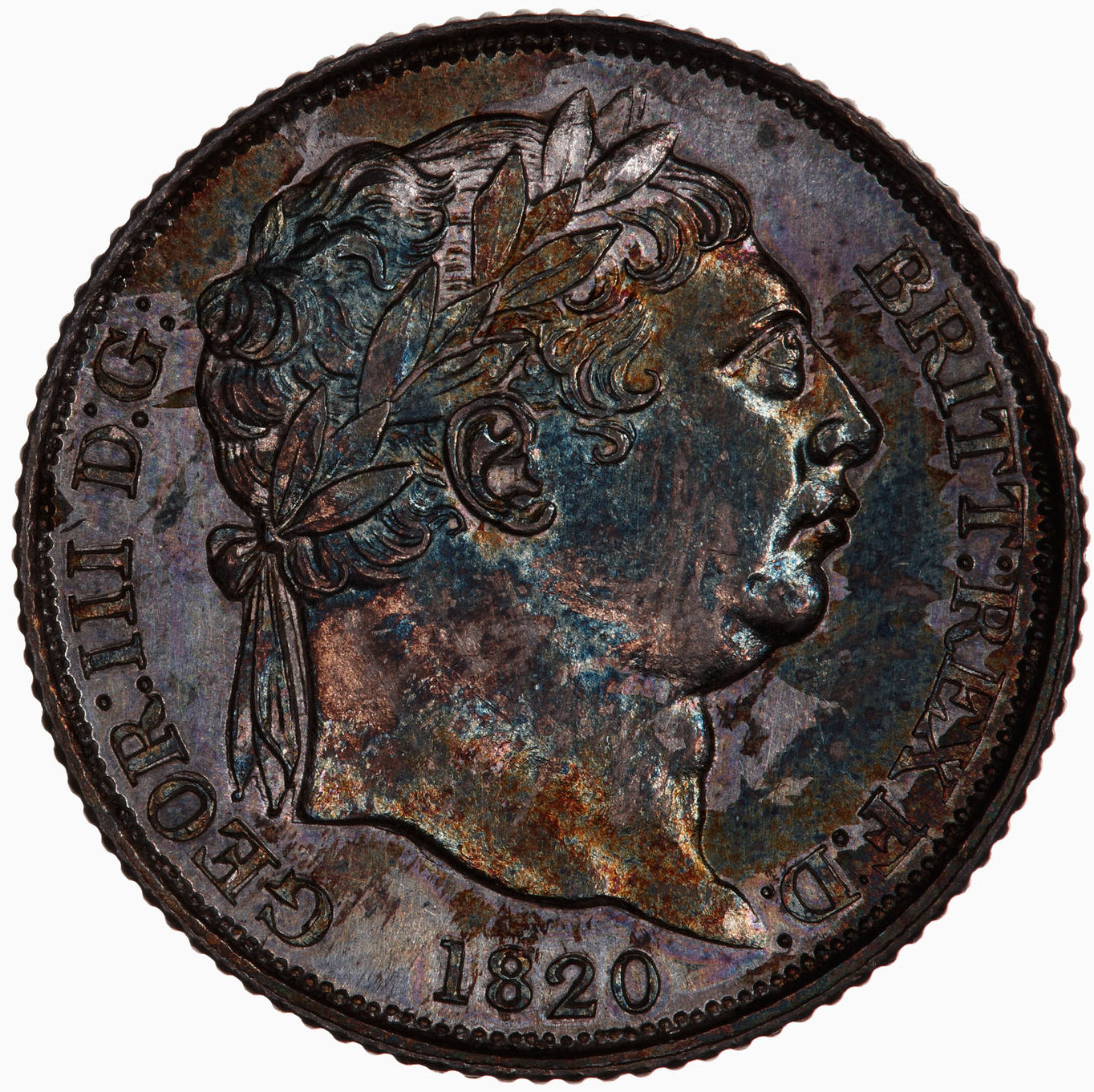 Sixpence 1820: Photo Coin - Sixpence, George III, Great Britain, 1820