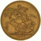 United Kingdom / Sovereign 1876 St George - reverse photo