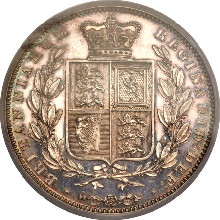 Halfcrown 1862 (Proof only): Photo Great Britain 1862 half crown