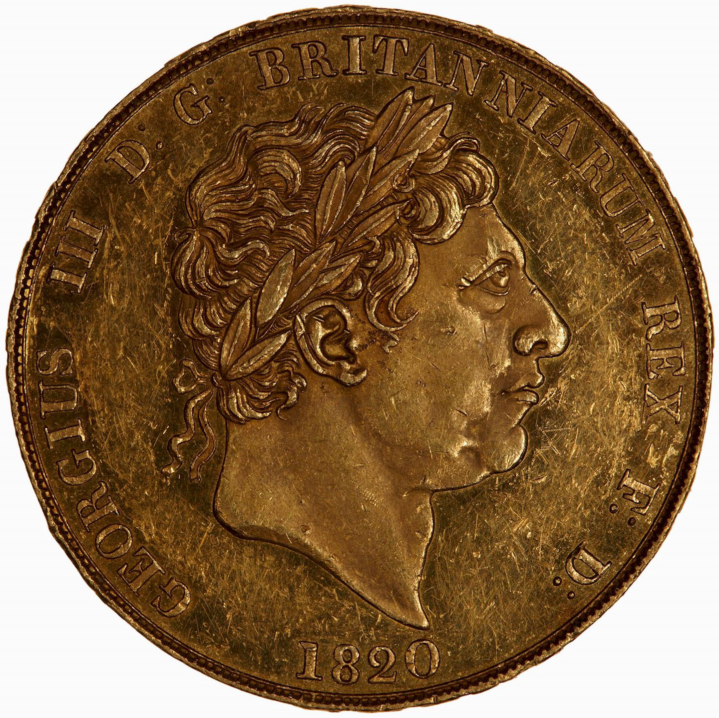 Two Pounds (Pre-decimal): Photo Coin - 2 Pounds, George III, Great Britain, 1820