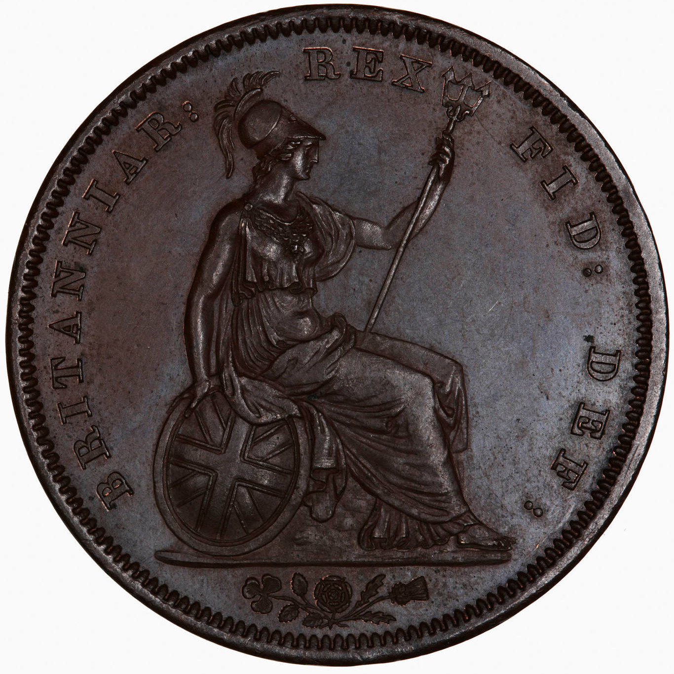 Penny (Britannia, second design): Photo Proof Coin - Penny, George IV, Great Britain, 1826