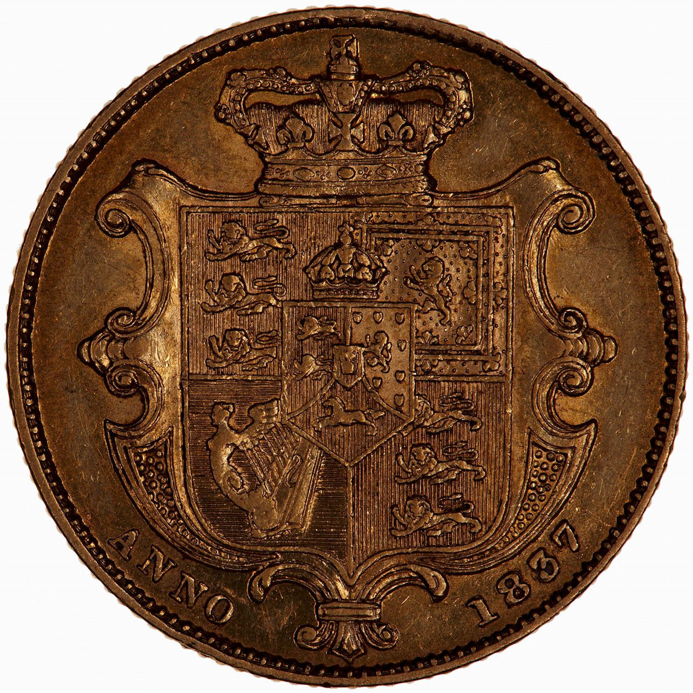 Sovereign 1837 William IV: Photo Coin - Sovereign, William IV, Great Britain, 1837