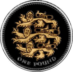 United Kingdom / One Pound 2008 Three Lions (NCLT) - reverse photo