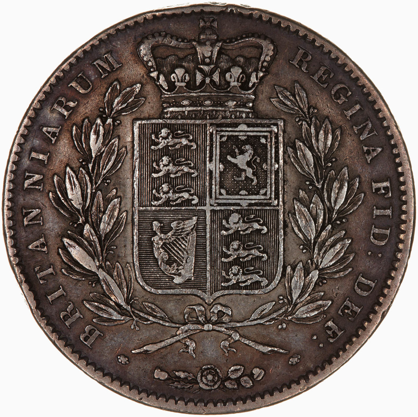 Crown 1847: Photo Coin - Crown, Queen Victoria, Great Britain, 1847