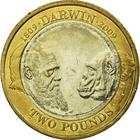 United Kingdom / Two Pounds 2009 Darwin - reverse photo