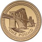 United Kingdom / One Pound 2004 Forth Railway Bridge / Gold Proof FDC - reverse photo