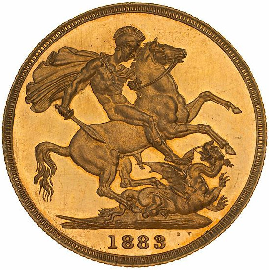 Sovereign 1883 St George: Photo Proof Coin - Sovereign, Victoria, Australia, 1883