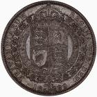 Halfcrown 1889: Photo Coin - Halfcrown, Queen Victoria, Great Britain, 1889