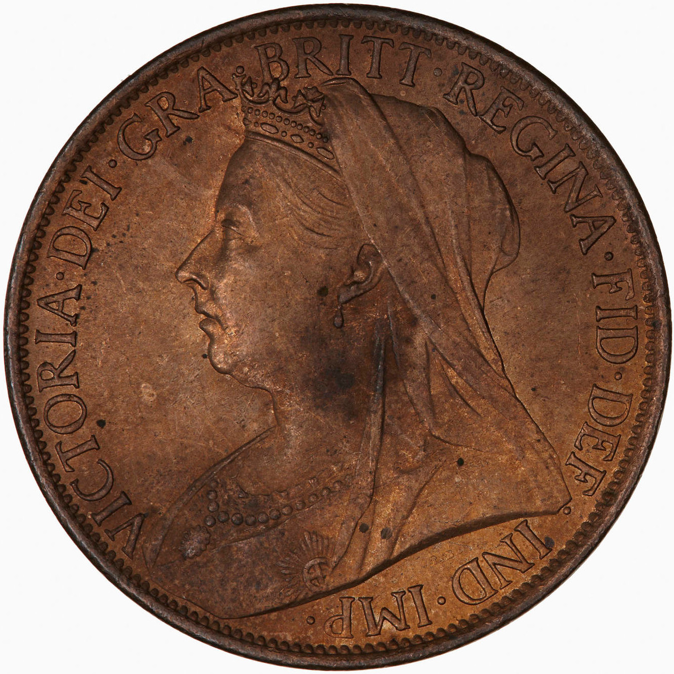 Penny 1901: Photo Coin - Penny, Queen Victoria, Great Britain, 1901