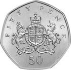 United Kingdom / Fifty Pence 2013 Christopher Ironside - reverse photo