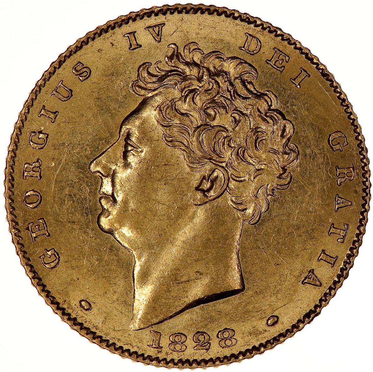 Half Sovereign 1828: Photo Coin - Half-Sovereign, George IV, Great Britain, 1828