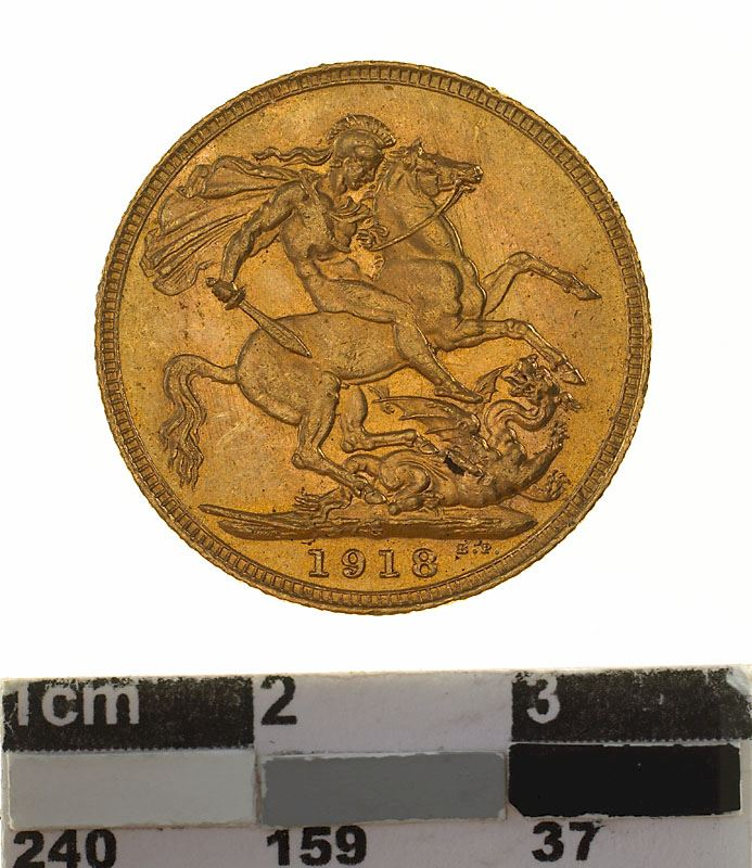 Sovereign 1918: Photo Coin - Sovereign, New South Wales, Australia, 1918