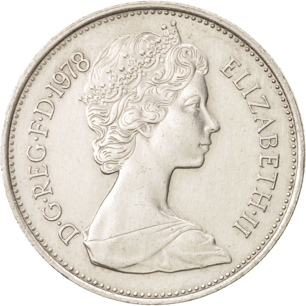 Five Pence 1978: Photo Great Britain, Elizabeth II, 5 New Pence, 1978