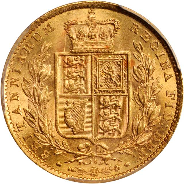 Sovereign 1871 Shield: Photo Great Britain 1871 sovereign Fr-387i