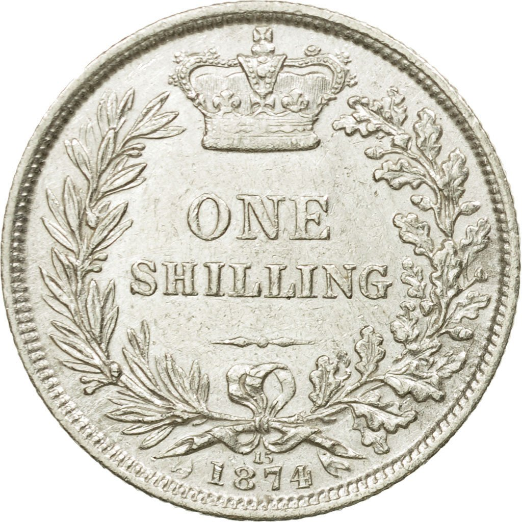 Shilling 1874: Photo Coin, Great Britain, Shilling, 1874