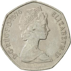 United Kingdom / Fifty Pence 1976 - obverse photo