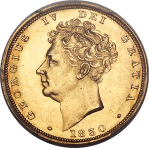 United Kingdom / Sovereign 1830 George IV - obverse photo