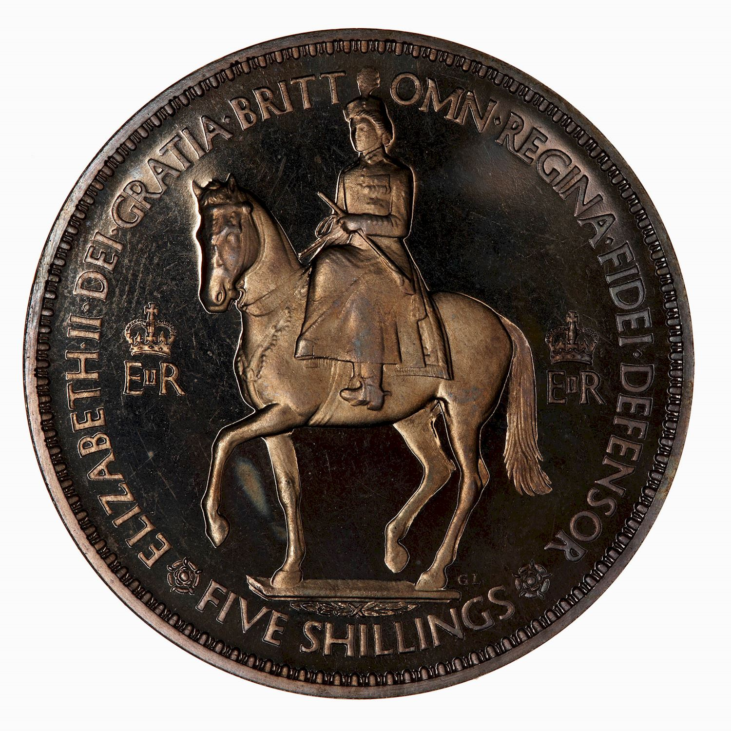 Crown: Photo Proof Coin - Crown, Coronation of Queen Elizabeth II, Great Britain, 1953