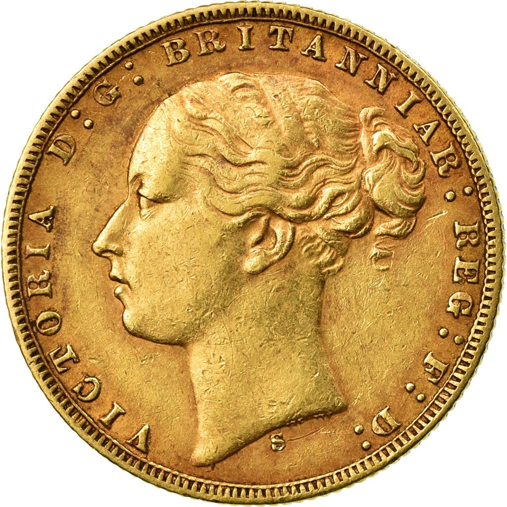 Sovereign 1874 St George: Photo Coin, Australia, Sovereign, 1874